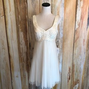 Sue Wong Dresses - Sue Wong Nocturne Ivory Cocktail Dress sz 6 NWT!
